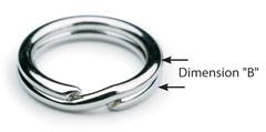 Standard Gauge Split Rings